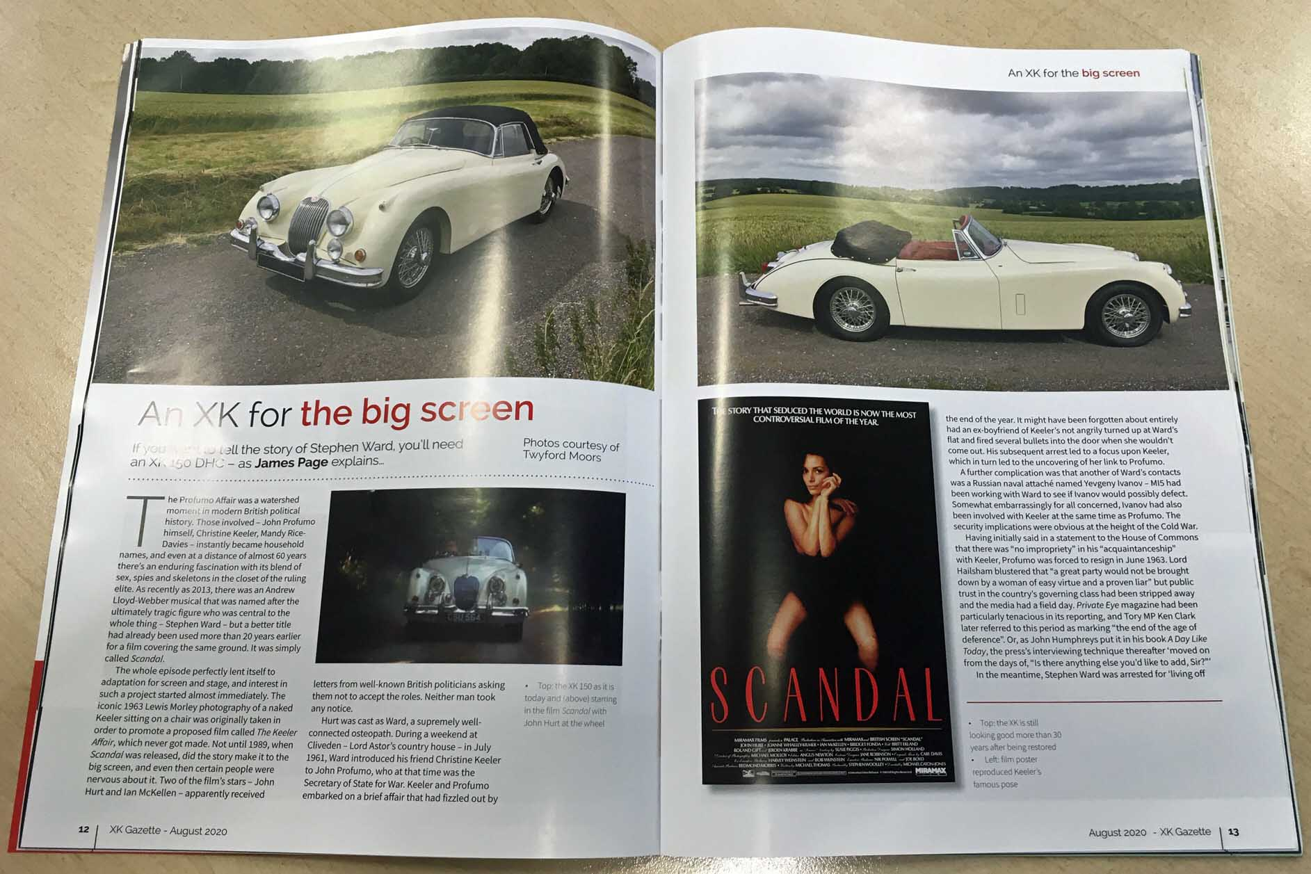 XK Club magazine XK Gazette Jaguar XK150