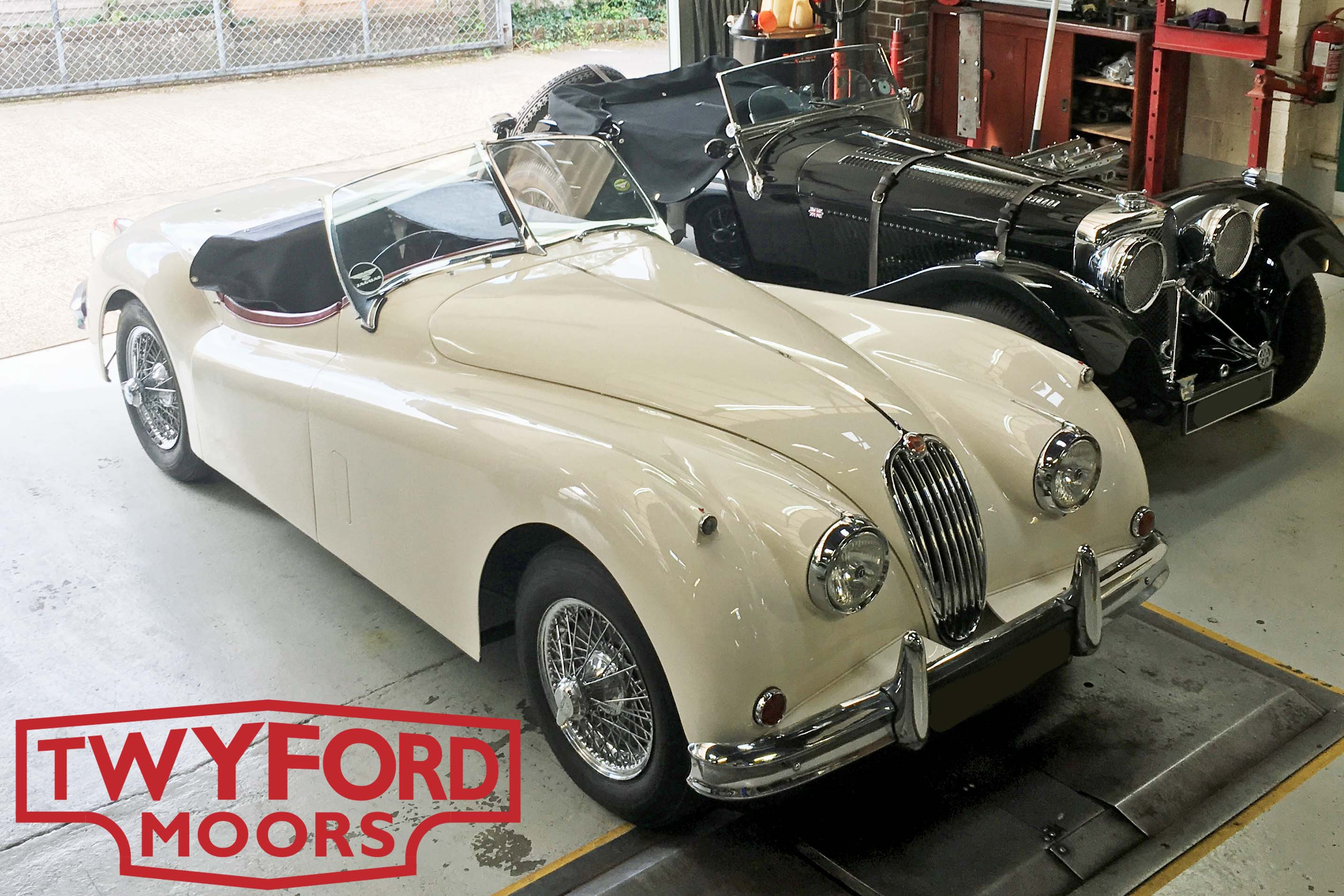 Jaguar XK140 OTS right hand drive and SS100