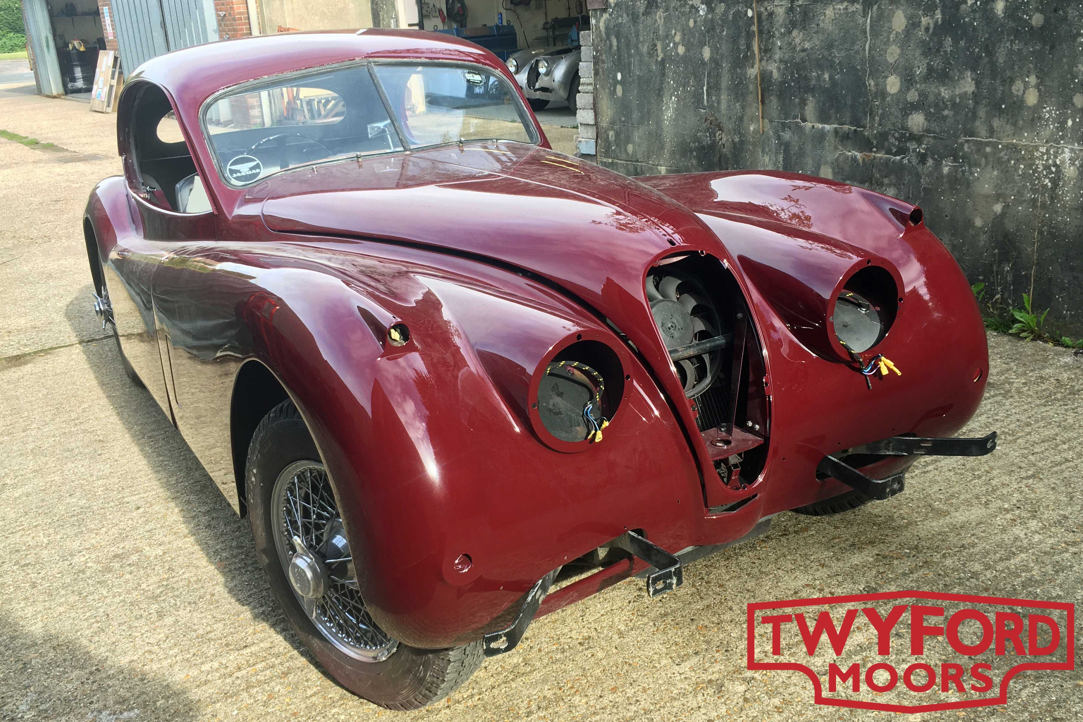 Jaguar XK140 paint and bodywork